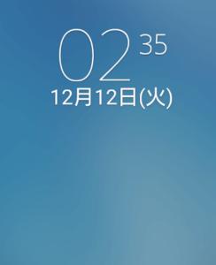 時計ウィジェット