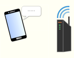 Wi-Fiルーター スマホ