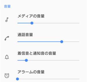 スマホの音量調節