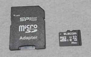 micro SDカードとアダプター