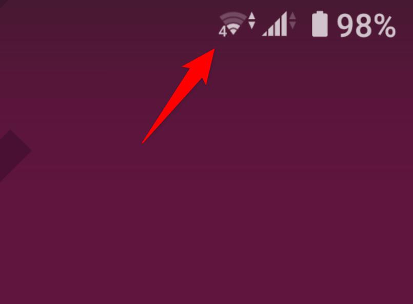 Wi-Fi マーク 横に数字 4、5、6